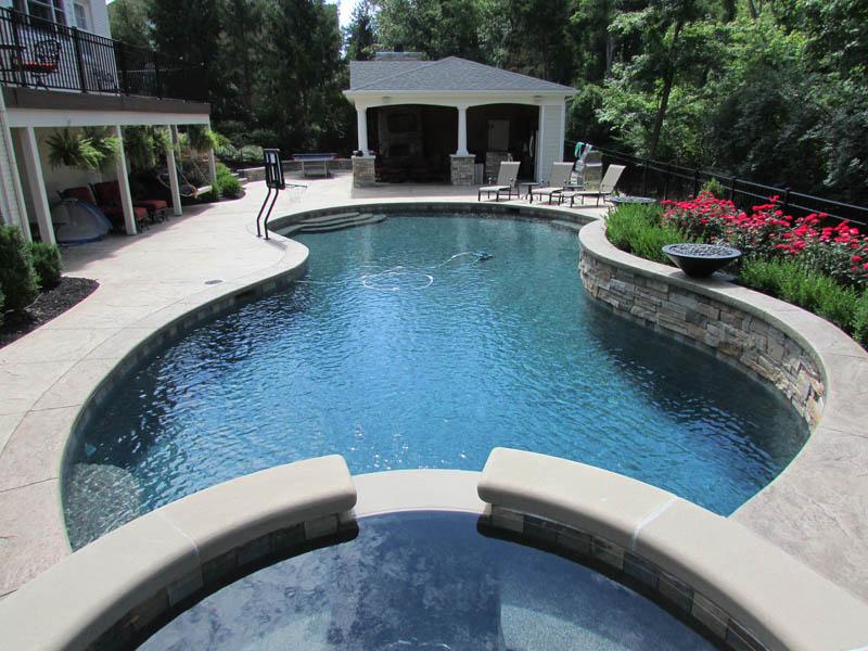 gunite pool designs - mid american gunite pools