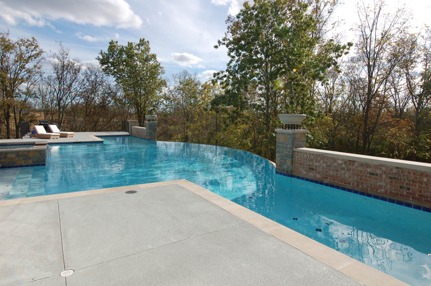 Gunite pool designs mid american gunite pools for Pool edges design