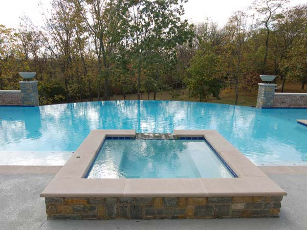vanishing edge gunite pools