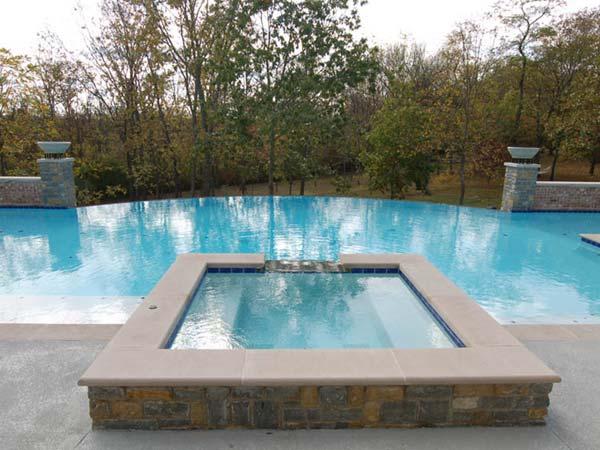 vanishing edge gunite pools