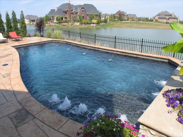 water features for gunite pools